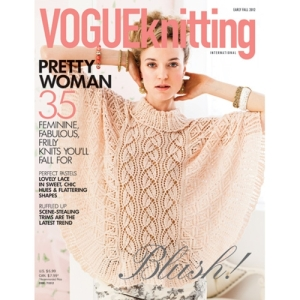 COVER IMAGE_Vogue Knitting_Early Fall 2012 Issue_Lace Poncho_designed by Lisa Daehlin