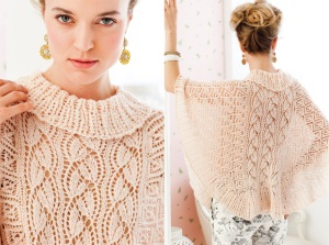 Vogue Knitting_Early Fall 2012 Issue_Lace Poncho_designed by Lisa Daehlin