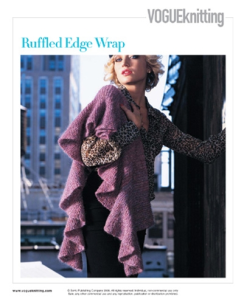 Vogue Knitting_Winter 2006-2007_Lisa Daehlin_Ruffle Edge Wrap