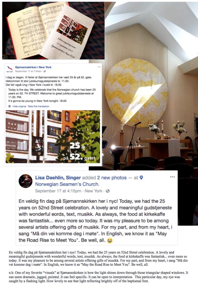 25 years on 52nd Street - Norwegian Seaman's Church in New York - 17 September 2017 - En veldig fin dag på Sjømannskirken her i nyc